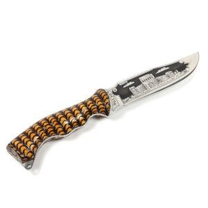 """Нож """"Восток"""" (жженый орех, чешуя) 43593"""