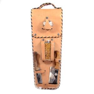 Шашлычный набор в кожаном чехле 43566
