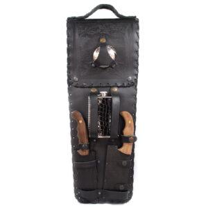 Шашлычный набор в кожаном чехле 43565