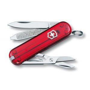 Нож-брелок Victorinox Classic, 58 мм, 7 функций полупрозрачный 0.6223.T