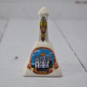 Колокольчик с ручкой собор А. Невского квадратный мал. 45625