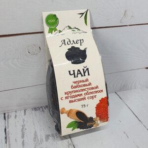 Чай черный байховый крупнолистовой с ягодами облепихи высший сорт 57360