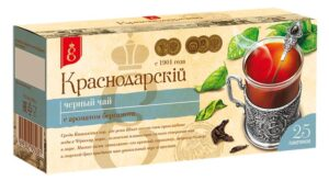 """Чай черный """"Краснодарскiй с 1901 года"""" с ароматом бергамота 25шт. по 1,7г 49778"""