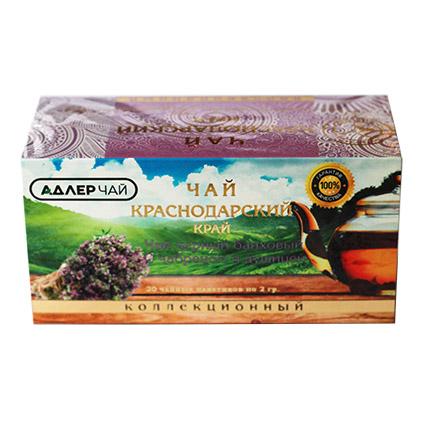 Чай черный байховый с чабрецом и душицей 20 пакетиков 2 гр. 53224