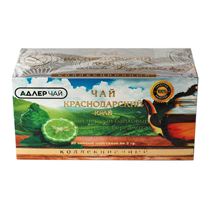 Чай черный байховый с бергамотом 20 пакетиков 2 гр. 53223