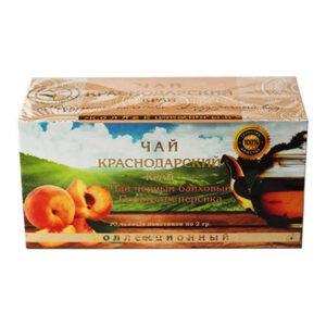 Чай черный байховый 20 пакетиков со вкусом персика 40 г. Адлер Чай 55708