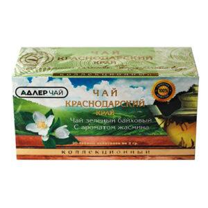 Чай зеленый 20 пакетиков с ароматом жасмина 40 г. Адлер Чай 55180