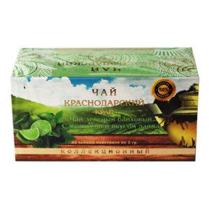 Чай зеленый с мелисой и вкусом лайма 20 пакетиков Адлер Чай 55677