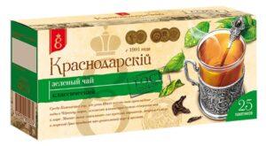 "Чай зеленый ""Краснодарскiй с 1901 года"" 25шт. по 1,7г 49781"