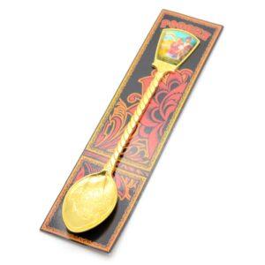 Ложка Кубань Казак с казачкой (золото) 46172