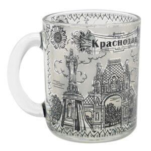 Кружка чайная Краснодар 300 мл. ч/б 48632