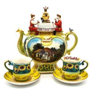 """Сервиз 5 предметов """"Кубанский чай""""  45752"""