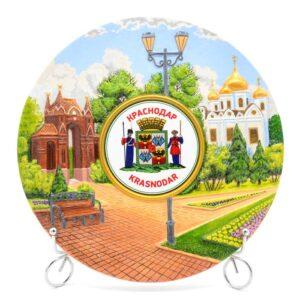 Тарелка Герб Краснодара - собор А.Неского и Арка 49955