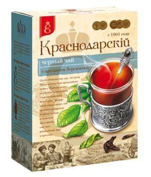 """Чай черный """"Краснодарскiй с 1901 года"""" крупнолистовой с ароматом бергамота 100 г. 49784"""