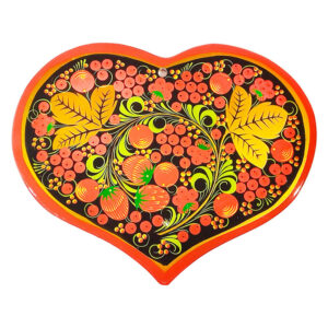 Доска для теста в форме сердца (Хохлома) 39906