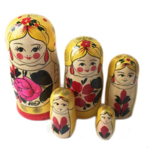 """Матрешка 5 шт традиционная """"Сударушка"""" 25556"""