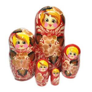 """Матрешка 5 шт """"Красный букет"""" 25536"""