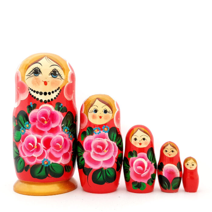 "Матрешка 5 шт ""Букет роз"" 55899"