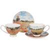 """Чайный набор """"Маковое поле"""" (К. Моне) на 2 персоны 4 предмета 250 мл 57025"""