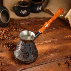 Турка для кофе медная «Ромашка» 0,4 л 42962