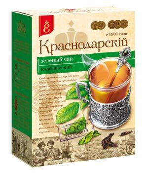 """Чай зеленый """"Краснодарскiй с 1901 года"""" крупнолистовой 100г 49785"""