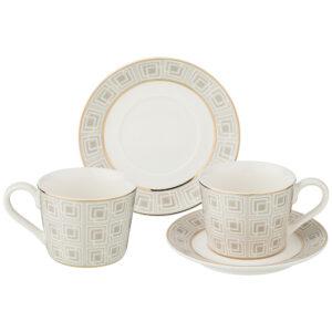 """Кофейный набор """"Букингем"""" на 2 персоны 4 предмета 130 мл 53638"""