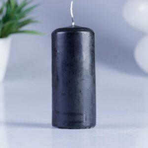 Свеча классическая 4х9 см, чёрная 41472