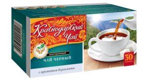"""Чай черный """"Краснодарский """" с ароматом бергамота 30шт. по 2г 49786"""