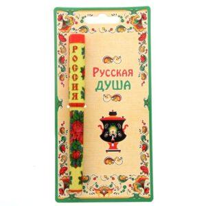 """Ручка на открытке """"Россия. Павловопосадский платок"""" 42403"""