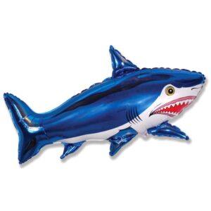 """Шар фольгированный 30"""" """"Акула большая"""", цвет синий 56220"""