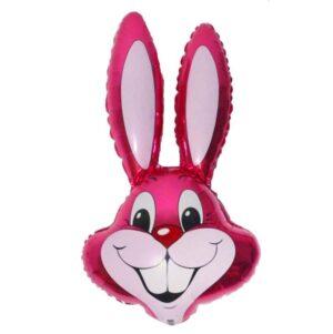 """Шар фольгированный 24"""" «Кролик», цвет малиновый 56214"""