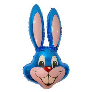"""Шар фольгированный 24"""" «Кролик», цвет синий 56215"""