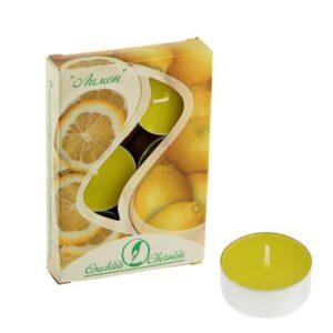 Свеча ароматизированная 12 г, Лимон 34189