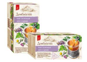 Чай зелёный мята и крапива Домбайскiй 25 пак, по 1,7 гр. 49787