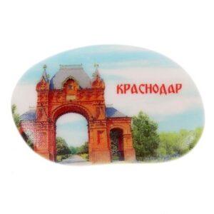 Магнит галька Триумфальная арка 22378