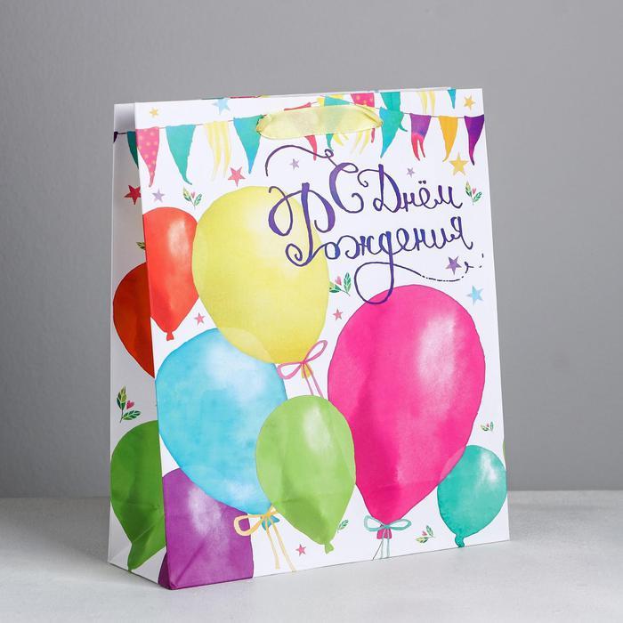 Пакет «С Днем Рождения!», 23 × 27 × 8 см 55965