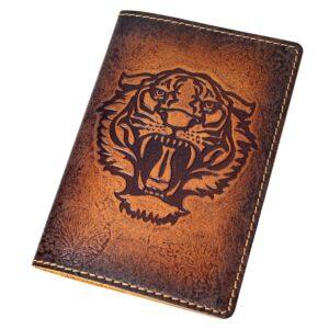 """Обложка на паспорт """"Тигриный оскал"""" 50695"""