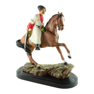 Казак на коне в белом 20733