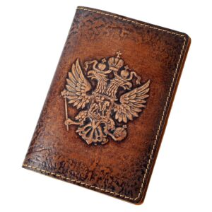 "Обложка на паспорт ""Герб России"" объемное тиснение 45563"