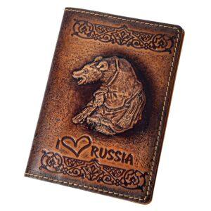 """Обложка на паспорт """"I love Russia"""" 45572"""