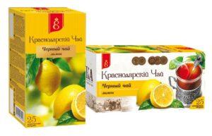 """Чай черный """"Краснодарский с 1901 года"""" с лимоном 25 пак, по 1,7 гр. 49789"""