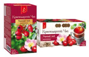 """Чай черный """"Краснодарский с 1901 года"""" с шиповником 25 пак, по 1,7 гр. 49790"""