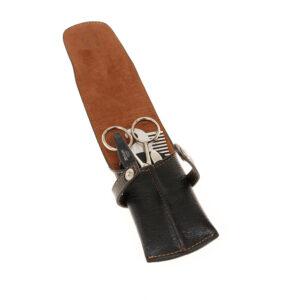 """Мужской набор для бороды, усов и ногтей DEWAL, серии """"FOR MEN"""" 4 предмета Чехол: натуральная кожа 54"""