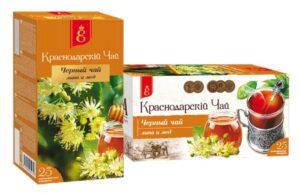"""Чай черный """"Краснодарский с 1901 года"""" с липой и медом 25 пак, по 1,7 гр. 49791"""