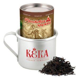 """Чай черный """"Краснодарскiй с 1901 года"""" крупнолистовой «Фронтовая Кружка» 100гр. 49795"""