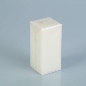 Свеча куб 5х10 белый 41579