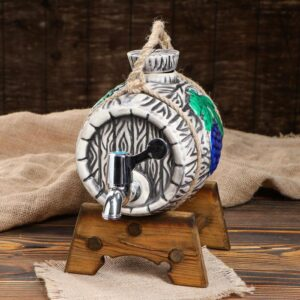 """Бочка """"Виноград"""" на деревянной подставке с ручкой, 2,5 л 52128"""