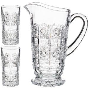 """Набор для сока """"Muza crystal"""" кувшин + 2 стакана 1400/400 мл 53347"""