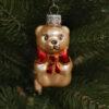 Игрушка на ёлку Медведь с бантиком (стекло) 54113