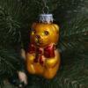 Игрушка на ёлку Медведь с бантиком (стекло) 54113 87018